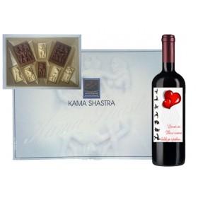Бонбони Кама Сутра и бутилка вино с еротичен етикет