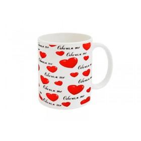 """Чаша със сърца """"Обичам те"""""""