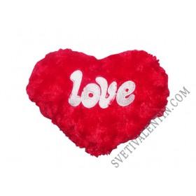 Подари на своята половинка плюшено сърце с надпис LOVE